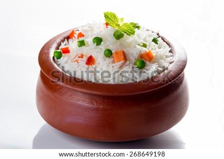 Vegetarian Basmati Rice - stock photo