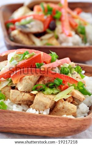 vegetarian dish closeup - stock photo