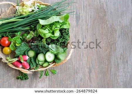 vegetarian food - stock photo