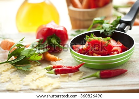Vegetarian food - stock photo