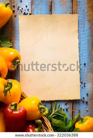 Vegetarian food, health or cooking concept. - stock photo