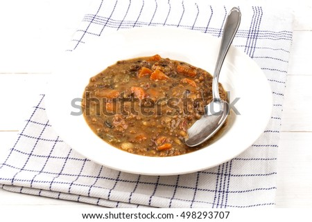vegetarian lentil one pot with carrots