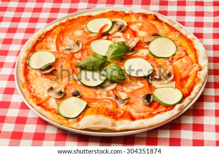 vegetarian pizza - stock photo