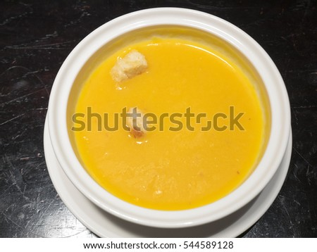 Vegetarian pumpkin soup