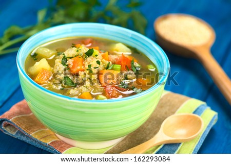 stock-photo-vegetarian-quinoa-soup-with-carrot-potato-leek-and-tomato ...