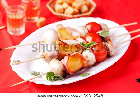 Vegetarian shashlik