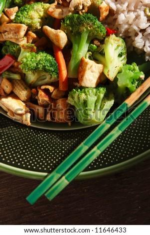Vegetarian Stir fry - stock photo