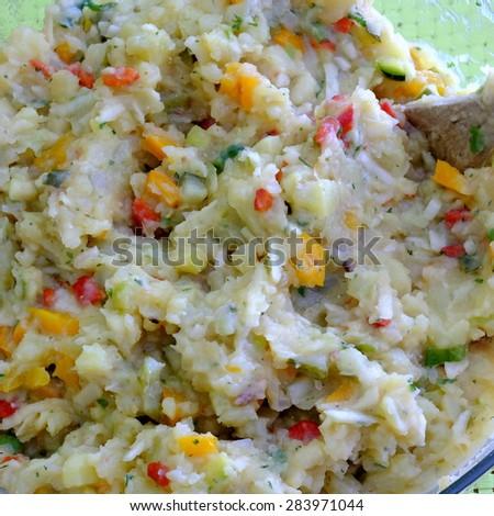 veggi potato salad 2 - stock photo