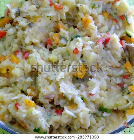 veggi potato salad 3 - stock photo