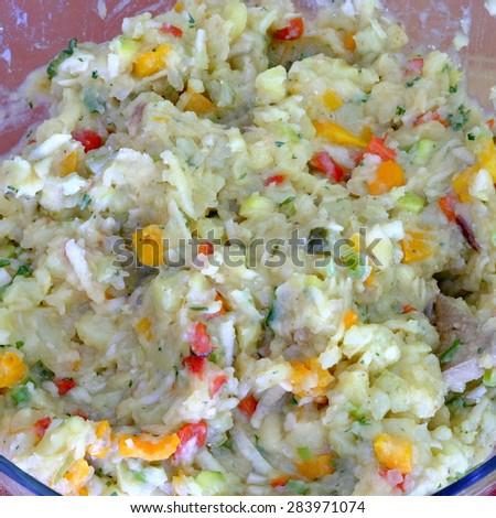 veggi potato salad 9 - stock photo