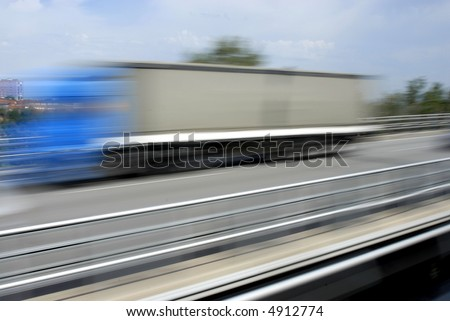 vehicle motion blur on a highway