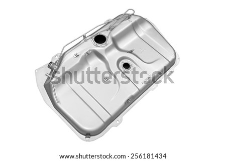 vehicle's fuel tank on a white background - stock photo