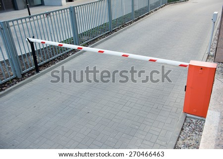 Vehicle security barrier - entrance to the car park