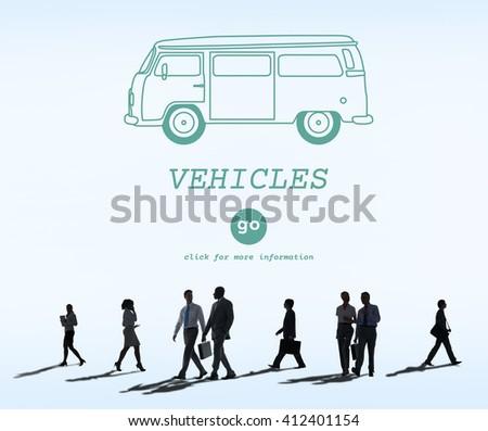 Vehicles Traveling Adventure Journey Destination Van Concept - stock photo