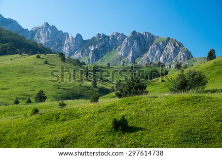 Veliko Plece mountains - Sutjeska National Park, Bosnia and Herzegovina - stock photo