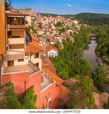 Veliko tarnovo town in Bulgaria - stock photo