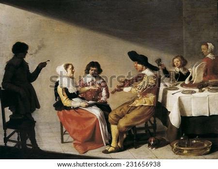 VELSEN, Jacob van (1597-1656), A Musical Party, 1631, Baroque art, Oil on wood