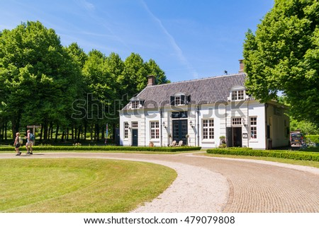 VELSEN, NETHERLANDS - JUN 9, 2016: Country estate Beeckestijn in Velsen, North Holland, Netherlands