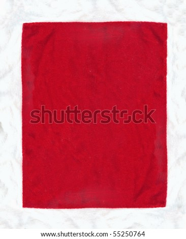 Velvet texture in red color - stock photo