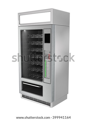 Vending Machine 3d illustration. Isolated on white