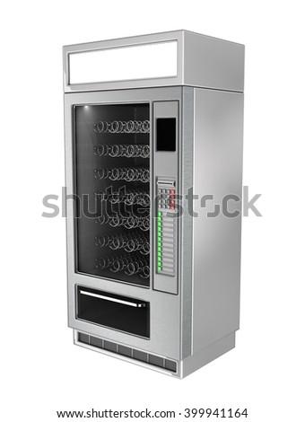 Vending Machine 3d illustration. Isolated on white - stock photo