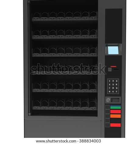 Vending machine for the sale of soft drinks.