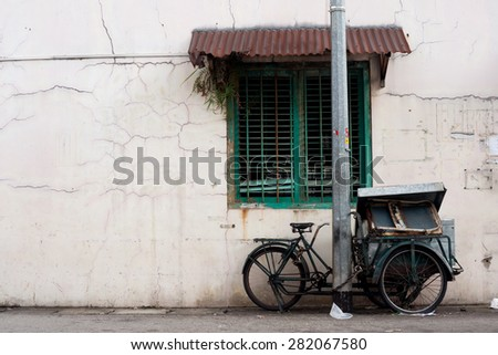 Vendor Bike Cart in Singapore - stock photo