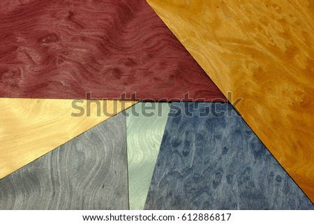 veneer wood colorful dyeing material work pastel pattern dark bright