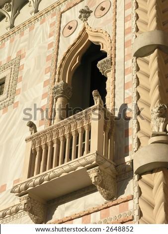 Venetian bldg detail, Las Vegas - stock photo
