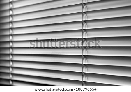Venetian blinds, close up image as background.  (BW) - stock photo