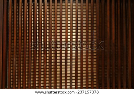 Venetian blinds wood - stock photo