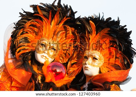 Venetian carnival mask - stock photo