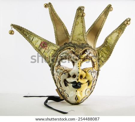 Venetian carnival mask, ancient crafts.