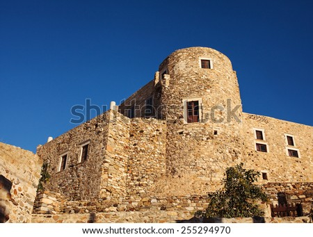 Venetian Castle in old town Naxos, Greece.  - stock photo