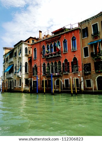 Venetian Homes on the Grand Canal