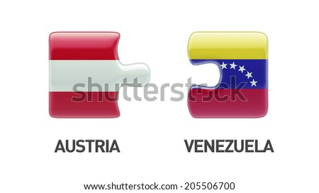 Venezuela Austria High Resolution Puzzle Concept