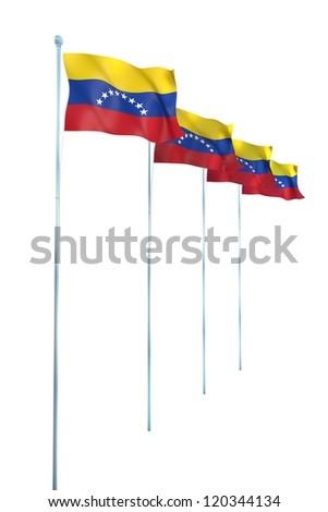 Venezuela Flag Detail Render - stock photo