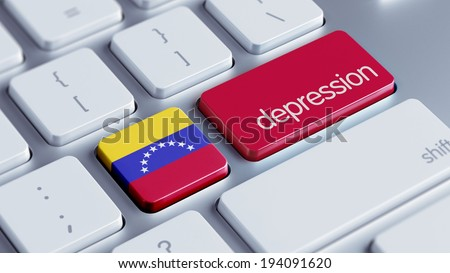 Venezuela High Resolution Depression Concept - stock photo