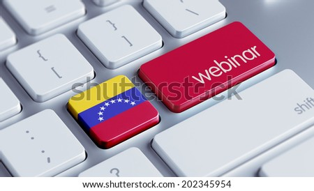 Venezuela High Resolution Webinar Concept - stock photo