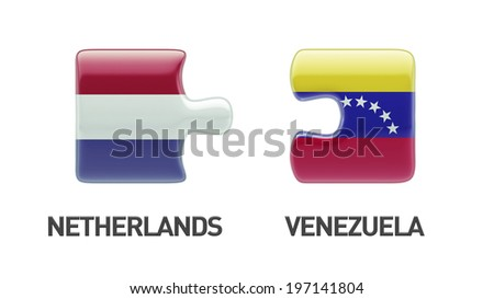 Venezuela Netherlands High Resolution Puzzle Concept