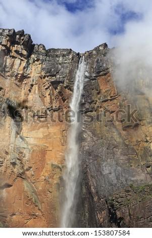venezuela/way to waterfall/angel - stock photo