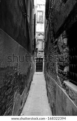Venice alley - stock photo