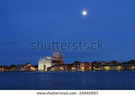Venice at night (Italy) - stock photo