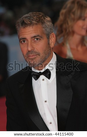 VENICE - AUGUST 31:George Clooney attends the Michael Clayton Premiere in Venice during day 3 of the 64th Venice Film Festival on August 31, 2007 in Venice, Italy. - stock photo