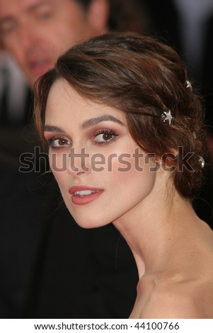 VENICE - AUGUST 29:Keira Knightley arrives for the Opening Ceremony and the Atonement Premiere at the 64th Annual Venice Film Festival on August 29, 2007 in Venice, Italy. - stock photo