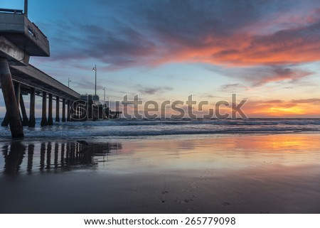 Venice Beach Pier - stock photo