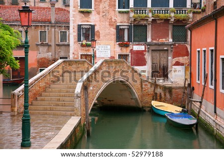 Venice canal 2 - stock photo