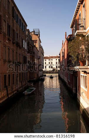 Venice canal - stock photo