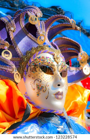 Venice Carnival mask. - stock photo