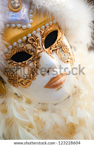 Venice carnival mask. - stock photo